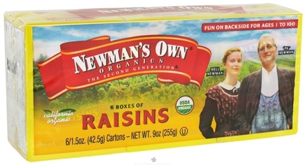 DROPPED: Newman's Own Organics - Organic California Raisins - 6 Box(s) 1.5 oz. Each