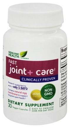 Genuine Health - Fast Joint+ Care - 30 Vegetarian Capsules