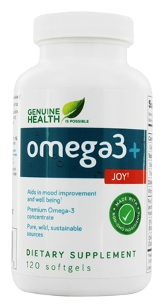 Genuine Health - Omega3+ Joy - 120 Softgels