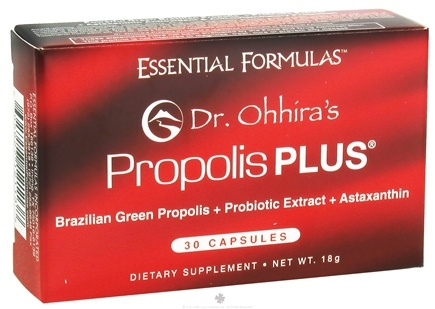 DROPPED: Essential Formulas - Dr. Ohhira's Propolis Plus - 30 Capsules CLEARANCE PRICED