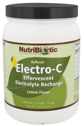 DROPPED: Nutribiotic - Electro-C Buffered Effervescent Electrolyte Recharge Lemon - 2.2 lbs. CLEARANCE PRICED