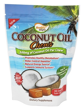 Healthy Natural Systems - Healthy Delights Coconut Oil Chews 500 mg. - 30 Soft Chews