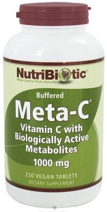 DROPPED: Nutribiotic - Meta-C Buffered Vitamin C with Biologically Active Metabolites 1000 mg. - 250 Vegetarian Tablets CLEARANCE PRICED