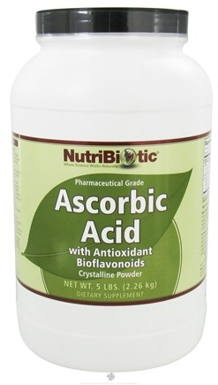 DROPPED: Nutribiotic - Ascorbic Acid Crystalline Powder with Antioxidant Bioflavonoids - 5 lbs. CLEARANCE PRICED