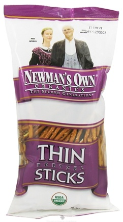 DROPPED: Newman's Own Organics - Organic Pretzel Thin Sticks - 7 oz. CLEARANCE PRICED