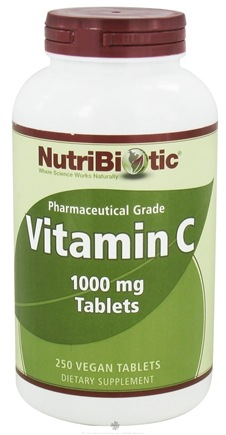 DROPPED: Nutribiotic - Vitamin C Pharmaceutical Grade 1000 mg. - 250 Vegetarian Tablets CLEARANCE PRICED