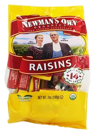 DROPPED: Newman's Own Organics - Organic California Raisins - 14 Box(s) .5 oz. Each