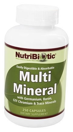 DROPPED: Nutribiotic - Multi Mineral with Germanium, Boron, GTF Chromium & Trace Minerals - 250 Capsules