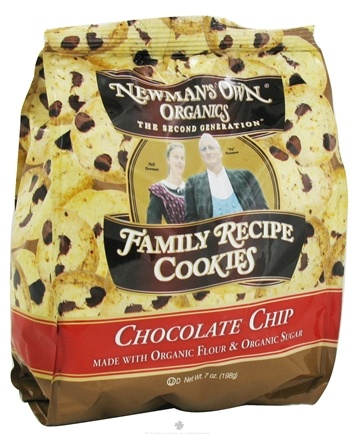 DROPPED: Newman's Own Organics - Family Recipe Cookies Chocolate Chip - 7 oz. CLEARANCE PRICED