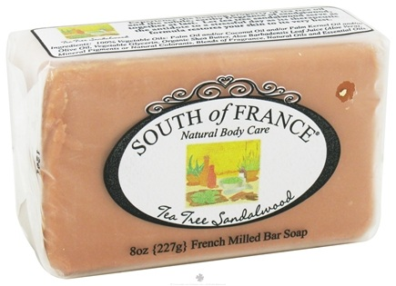 DROPPED: South of France - French Milled Vegetable Bar Soap Tea Tree Sandalwood - 8 oz.