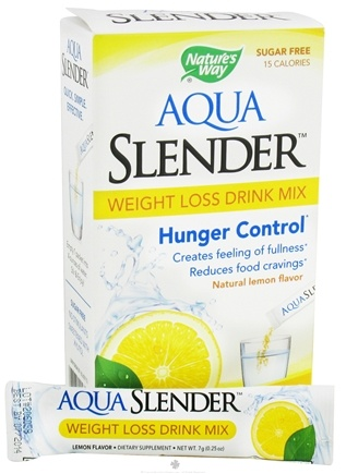 DROPPED: Nature's Way - Aqua Slender Weight Loss Drink Mix Natural Lemon Flavor - 10 Packet(s) CLEARANCE PRICED