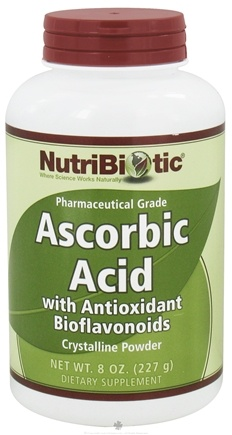 DROPPED: Nutribiotic - Ascorbic Acid Crystalline Powder with Antioxidant Bioflavonoids - 8 oz. CLEARANCE PRICED