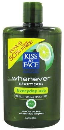 DROPPED: Kiss My Face - Shampoo Whenever Everyday Use Green Tea & Lime - 16.5 oz. Bonus 50% More Free