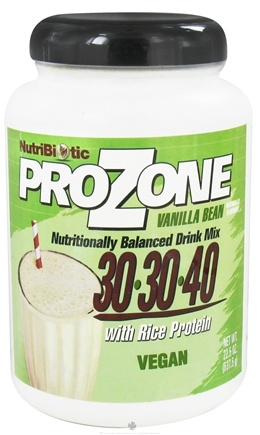 DROPPED: Nutribiotic - ProZone Vegan Nutritionally Balanced Drink Mix with Rice Protein Vanilla Bean - 22.5 oz. CLEARANCE PRICED