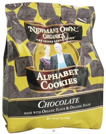 DROPPED: Newman's Own Organics - Alphabet Cookies Chocolate - 7 oz.