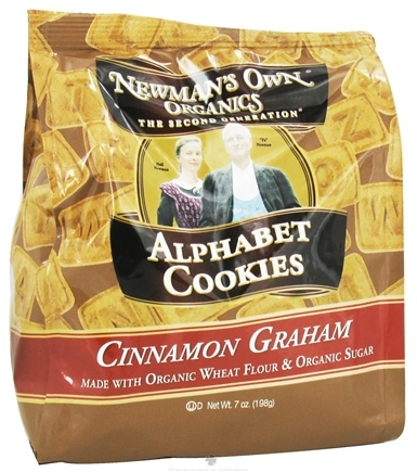 DROPPED: Newman's Own Organics - Alphabet Cookies Cinnamon Graham - 7 oz. CLEARANCE PRICED