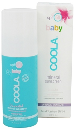 DROPPED: Coola Suncare - Mineral Baby Organic Sunscreen Unscented 50 SPF - 3 oz. CLEARANCE PRICED