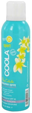 DROPPED: Coola Suncare - Sport Sunscreen Spray Pina Colada 35 SPF - 6 oz. CLEARANCE PRICED