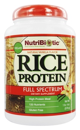 Nutribiotic - Rice Protein Spectrum Shake Vegan Vanilla - 20 oz.