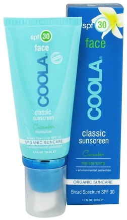 DROPPED: Coola Suncare - Classic Sunscreen Face Moisturizer Cucumber 30 SPF - 1.7 oz. CLEARANCE PRICED