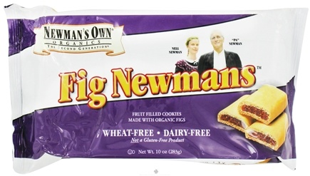 DROPPED: Newman's Own Organics - Fig Newmans Wheat-Free Dairy Free - 10 oz.