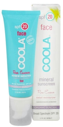 DROPPED: Coola Suncare - Mineral Sunscreen Face Tinted Moisturizer Rose Essence 20 SPF - 1.7 oz. CLEARANCE PRICED