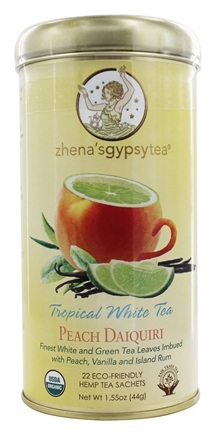 Zhena's Gypsy Tea - Tropical White Tea Peach Daiquiri - 22 Tea Bags