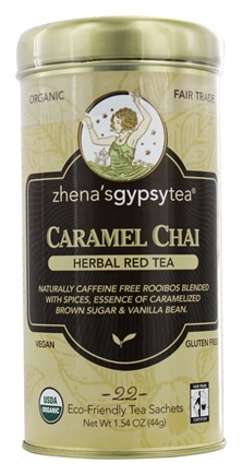Zhena's Gypsy Tea - Herbal Red Tea Caramel Chai - 22 Tea Bags