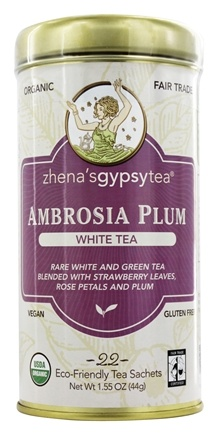 Zhena's Gypsy Tea - White Tea Ambrosia Plum - 22 Tea Bags