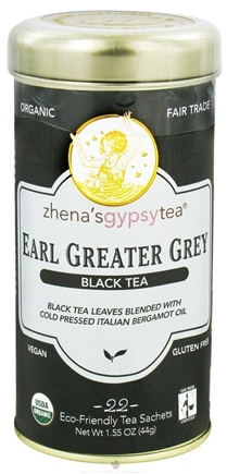 DROPPED: Zhena's Gypsy Tea - Black Tea Earl Greater Grey - 22 Tea Bags