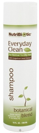 DROPPED: Nutribiotic - Everyday Clean Shampoo For Normal To Oily Hair Botanical Blend - 10 oz. CLEARANCE PRICED