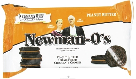 DROPPED: Newman's Own Organics - Newman's-O's Creme Filled Chocolate Cookies Peanut Butter - 8 oz.