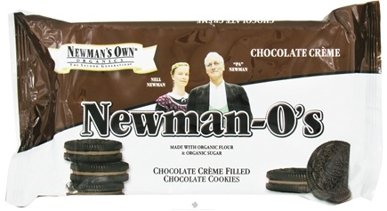 DROPPED: Newman's Own Organics - Newman-O's Creme Filled Chocolate Cookies Chocolate Creme - 8 oz.