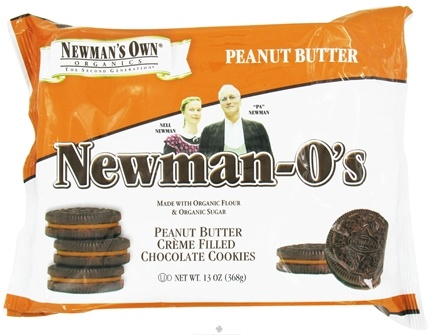 DROPPED: Newman's Own Organics - Newman's-O's Creme Filled Chocolate Cookies Peanut Butter - 13 oz.