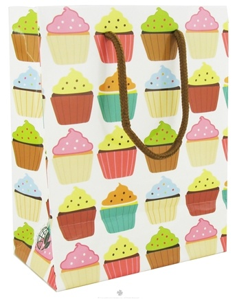 DROPPED: Earth Balance Bag - Tree Free Gift Bag Small Cupcakes - CLEARANCE PRICED