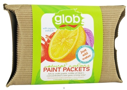 DROPPED: Glob - Paint Packets Natural Colors with Organic Extracts - 6 x .2 oz(5g) Packets - CLEARANCE PRICED
