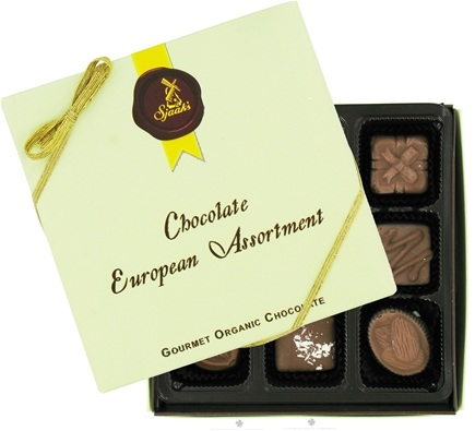 Sjaak's Organic Chocolate - European Assortment Gourmet Organic Milk Chocolate - 9 Piece(s)
