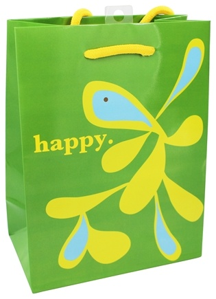DROPPED: Earth Balance Bag - Tree Free Gift Bag Small Happy - CLEARANCE PRICED