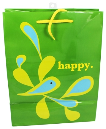 DROPPED: Earth Balance Bag - Tree Free Gift Bag Large Happy - CLEARANCE PRICED