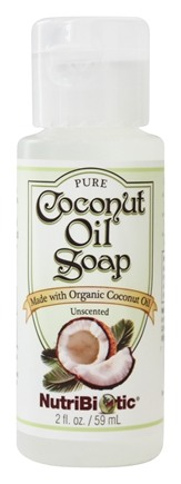 Nutribiotic - Pure Coconut Oil Soap Travel Size Unscented - 2 oz.