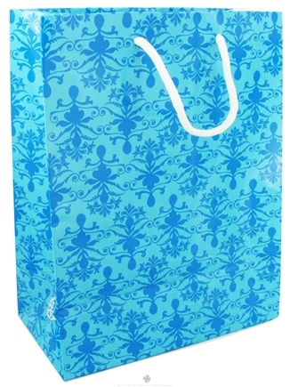 DROPPED: Earth Balance Bag - Tree Free Gift Bag Large Blue Damask