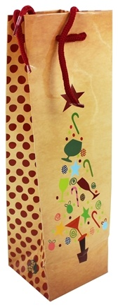 Earth Balance Bag - Tree Free Wine Bag Festive Tree - CLEARANCE PRICED