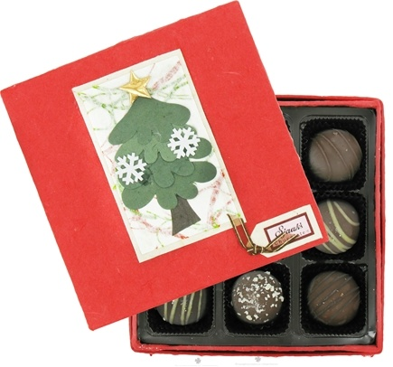 Sjaak's Organic Chocolate - Truffle Assortment Gourmet Organic Dark Chocolate in Handmade Gift Box - 9 Piece(s)