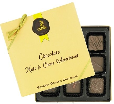 Sjaak's Organic Chocolate - Nuts & Chews Assortment Gourmet Organic Milk Chocolate - 9 Piece(s)