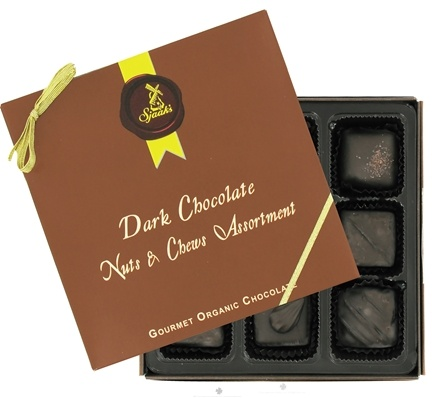 Sjaak's Organic Chocolate - Nuts & Chews Assortment Gourmet Organic Dark Chocolate - 9 Piece(s)