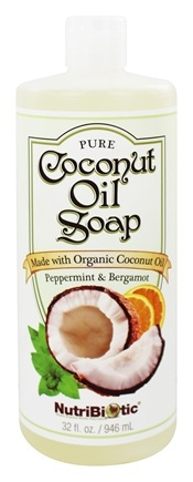Nutribiotic - Pure Coconut Oil Soap Peppermint & Bergamot - 32 oz.