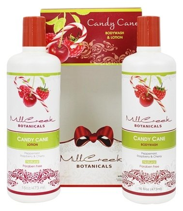 Mill Creek Botanicals - Bodywash and Lotion Candy Cane Gift Set - 2 x 16 oz.