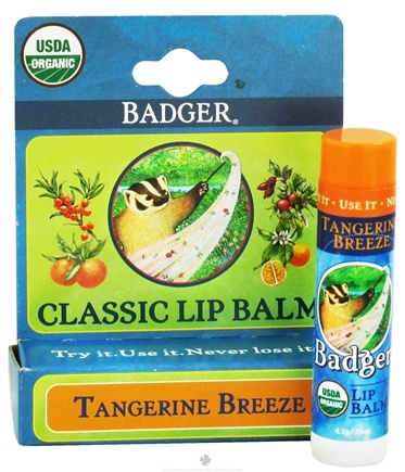 DROPPED: Badger - Classic Lip Balm Box Tangerine Breeze - 0.15 oz.