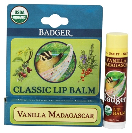 DROPPED: Badger - Classic Lip Balm Box Vanilla Madagascar - 1.5 oz.