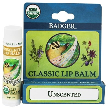 Badger - Classic Lip Balm Box Unscented - 1.5 oz.